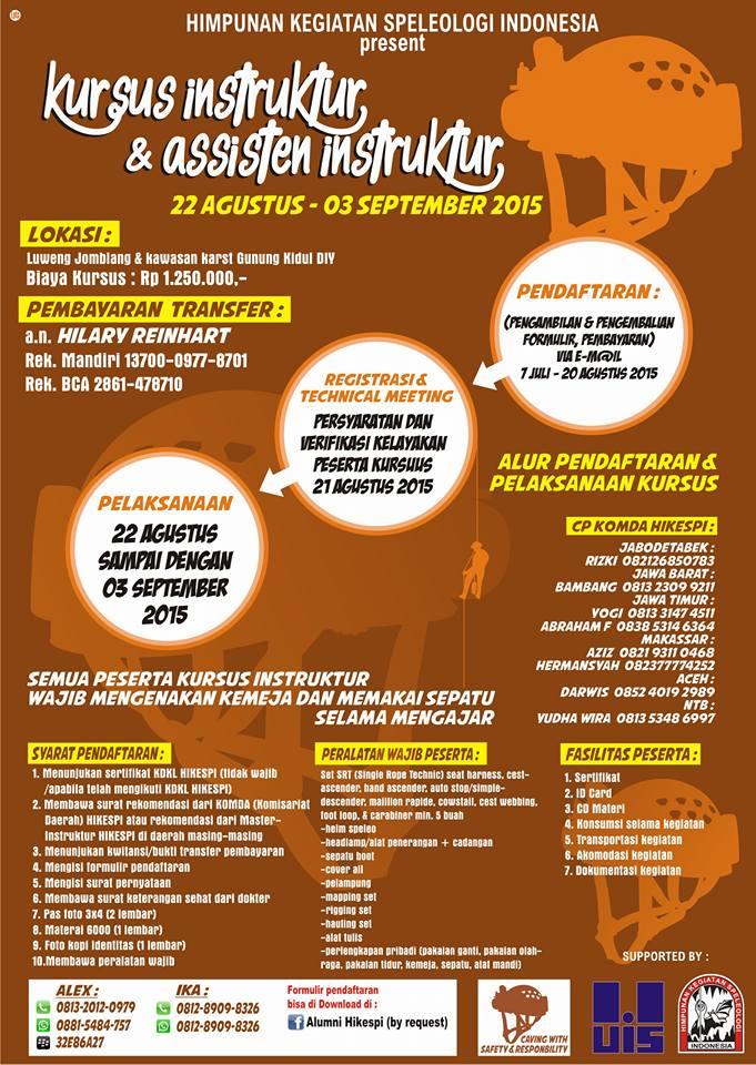 Kursus Instruktur dan Asisten Instruktur HIKESPI 2015