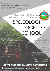 speleology goes to school