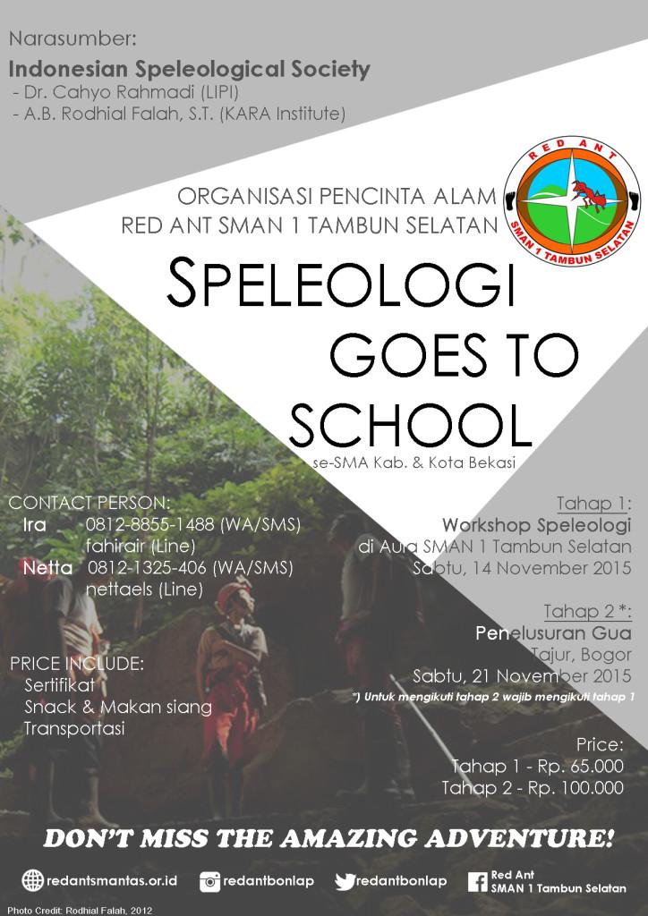 speleology goes to school