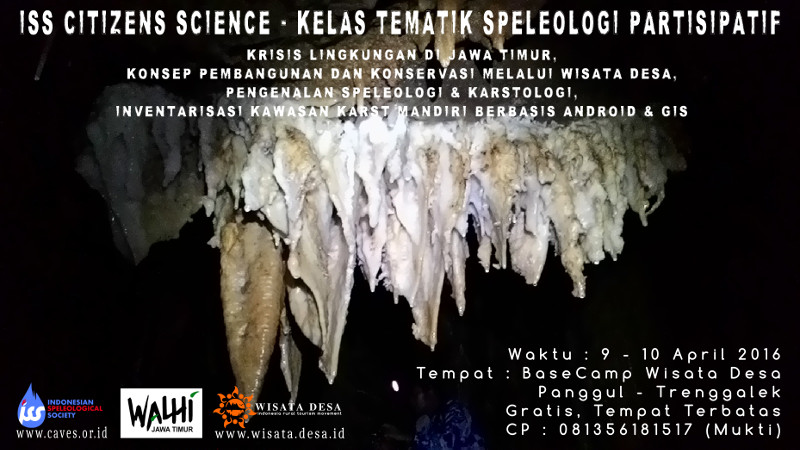 ISS Citizens Science - Kelas Speleologi Tematik Partisipatif Trenggalek 2016