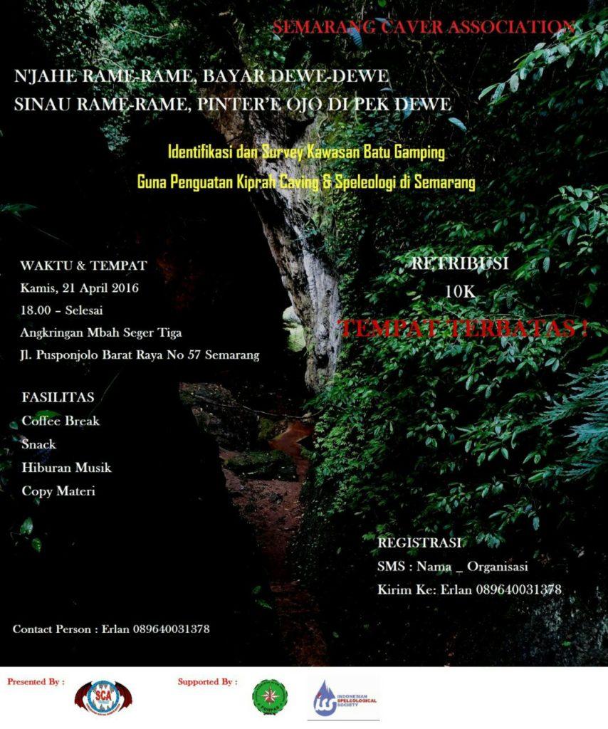 Semarang Caver Association: Diskusi Identifikasi dan Survei Kawasan Batu Gamping